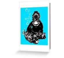 Deep sea diving chimp Greeting Card