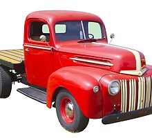 1947 Ford Flat Bed Antique Pickup Truck by KWJphotoart