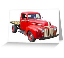 1947 Ford Flat Bed Antique Pickup Truck Greeting Card