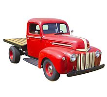 1947 Ford Flat Bed Antique Pickup Truck Photographic Print