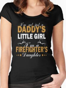 I'm A Firefighter's Daughter Women's Fitted Scoop T-Shirt