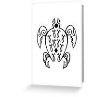 Marine Sea Turtle Tattoo Style Greeting Card
