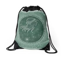 Virgo - Zodiac earth sign Drawstring Bag
