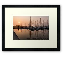From Orange to Pink - a Morning Smooth as Silk Framed Print