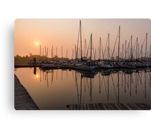 From Orange to Pink - a Morning Smooth as Silk Canvas Print