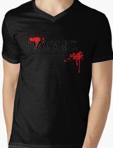 NAVY STREET MMA BLOOD Mens V-Neck T-Shirt