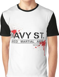NAVY STREET MMA BLOOD Graphic T-Shirt