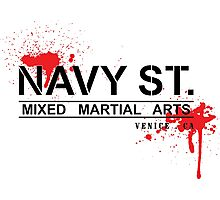 NAVY STREET MMA BLOOD Photographic Print