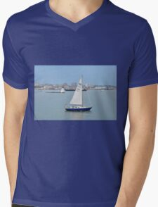 Sail the Harbor.... Mens V-Neck T-Shirt