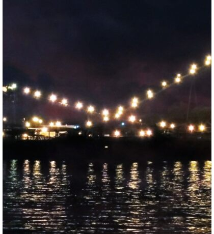 Sandusky Coal Dock At Night Sticker