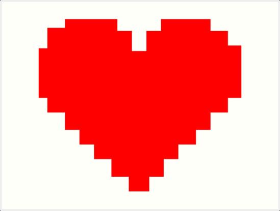 8bit Heart  Facebook