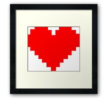 8 Bit Heart Framed Print