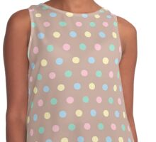 Colorful polka dots pattern Contrast Tank