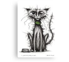 I love my smelly cat Canvas Print