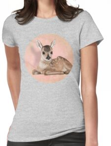A small fawn Womens Fitted T-Shirt
