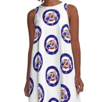 Aged Mod Target and scooter logo A-Line Dress
