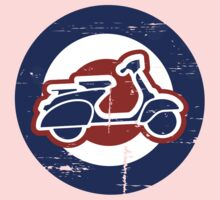 Aged Mod Target and scooter logo Kids Tee