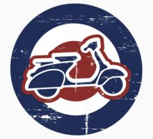 Aged Mod Target and scooter logo One Piece - Short Sleeve