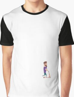 Young man racing a scooter Graphic T-Shirt