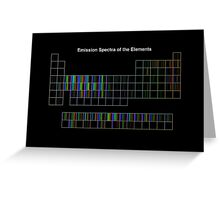 Periodic Table of Elements Spectra Greeting Card