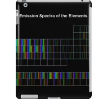 Periodic Table of Elements Spectra iPad Case/Skin