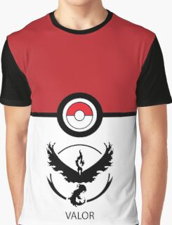 Go VALOR - Pokemon Go Graphic T-Shirt