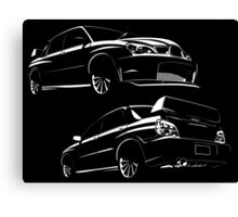 Fast cars under the spotlight Canvas Print