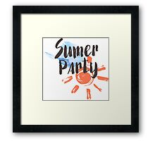 Summer party Framed Print