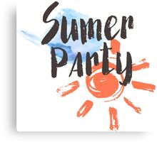 Summer party Canvas Print