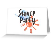 Summer party Greeting Card