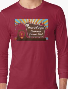 NW AcroYoga Summer Campout - Green Long Sleeve T-Shirt