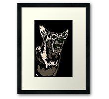 Angry German Shepherd Framed Print
