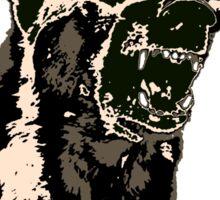 Angry German Shepherd Sticker