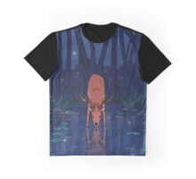 The Stag and the Pond Graphic T-Shirt