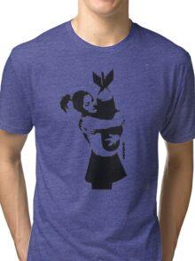 BANKSY - BOMB HUGGER Tri-blend T-Shirt