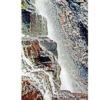 Water Fall Off Mt. Wilson Colorado Photographic Print