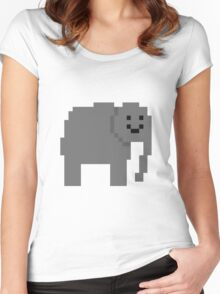 Unturned Elephant Women's Fitted Scoop T-Shirt