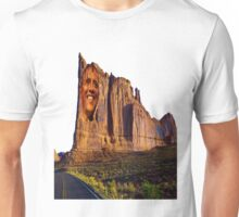 Iconic Image of President Obama superimposed on a California Mountain Unisex T-Shirt
