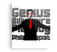 Genius billionaire playboy philanthropist. (fanart) Metal Print