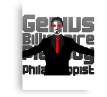 Genius billionaire playboy philanthropist. (fanart) Canvas Print
