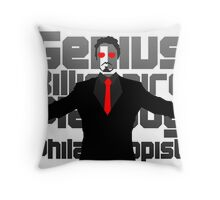 Genius billionaire playboy philanthropist. (fanart) Throw Pillow