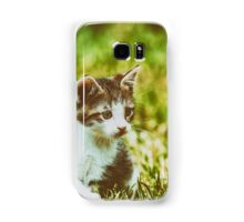 Baby Cat Playing In Grass Samsung Galaxy Case/Skin