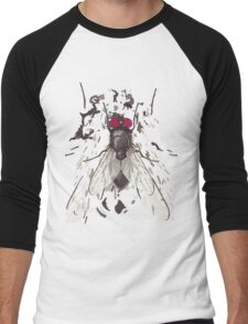 Abstract Fly on Shirt Men's Baseball ¾ T-Shirt