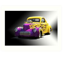 1941 Willys Coupe 'Studio 7' Art Print