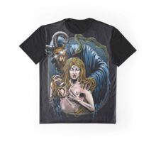 Girl with Devil Graphic T-Shirt