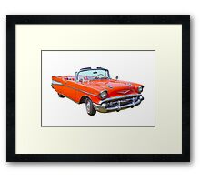1957 Chevrolet Bel Air 2-door Convertible Antique Car Framed Print