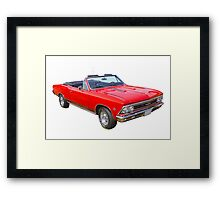 1966 Chevrolet Chevelle Convertible 283 Muscle Car  Framed Print