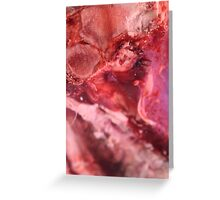 meat texture Greeting Card