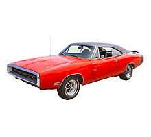 Red 1970 Dodge Charger R/t Muscle Car Photographic Print
