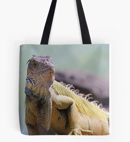 Young Adult Green Iguana Tote Bag